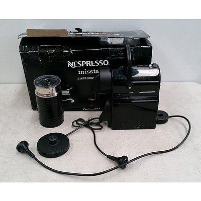 Nespresso Inissia & Aeroccino3 Capsule Coffee Machine and Milk Frother