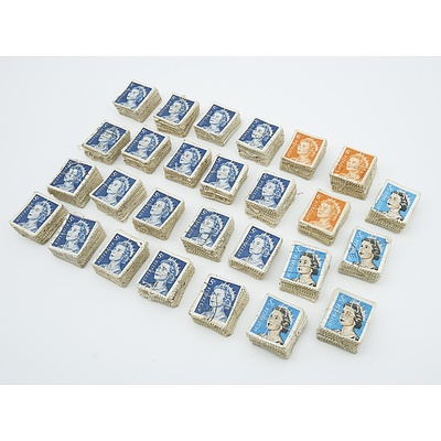 Australia QEII - 5 cent and 6 cent stamps