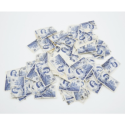 1966 Australia 40 cent Tasman Blue Stamps - Lot of 100 Stamps