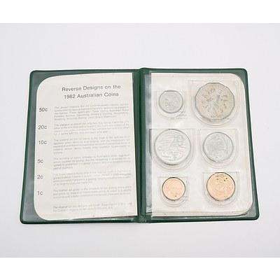 1982 Royal Australian Mint Six Coin Set - XII Commonwealth Games Brisbane