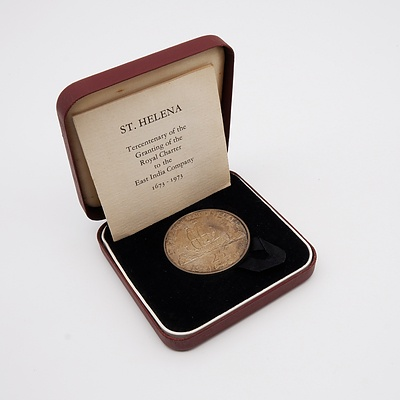 1673 - 1973 St Helena Tercentenary 25P Coin