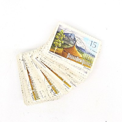 One Hundred Papua New Guinea Mt. Elimbari Fifteen Cent Stamps