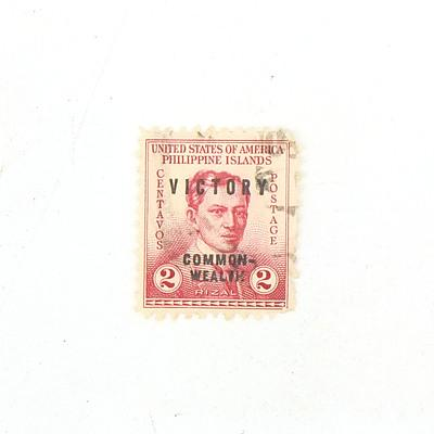 USA-Phillipine Isalnds Two Rizal Stamp
