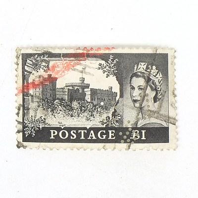 1955 England One Pound Black Waterloo Stamp