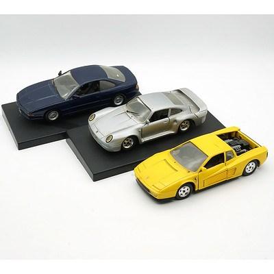 Revell 1:24 Porsche 959, Revelle 1:24 BMW 850i and Revell 1:24 Ferrari Testarossa