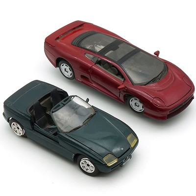 Maisto 1:24 Jaguar X220 and Revell 1:24 BMW Z1