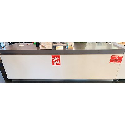 Eleven Drawer Reception Counter Unit with Various Shelves