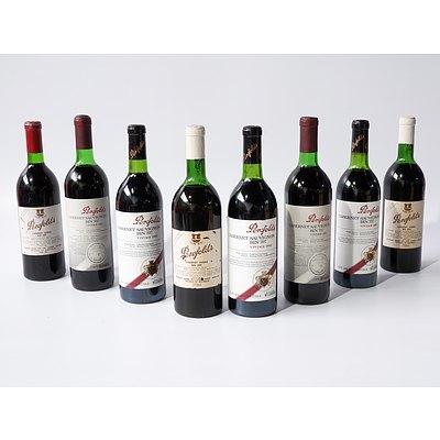 Five Bottles of Penfolds Cabernet Sauvignon and Three Bottles of Penfolds Cabernet Shiraz