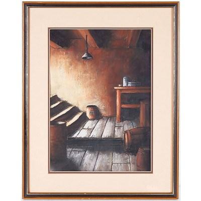 N. Hopkins The Cellar Pastel on Board