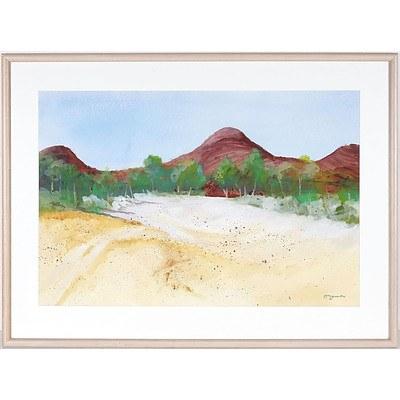 McLennan Beach Island Watercolour