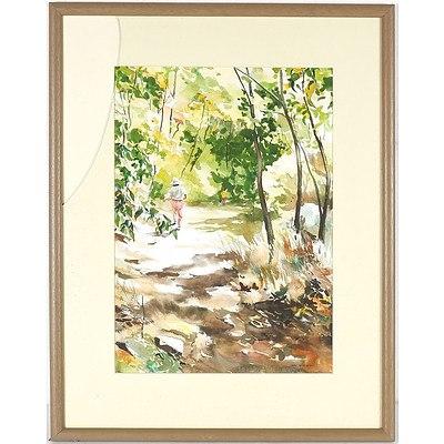 Ray Barnett Track Nr. Kianninny, Tathra 1990 Watercolour