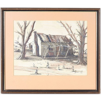Bron Old Country House 1981 Watercolour and Graphite?