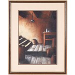 N. Hopkins The Cellar Pastel on Board