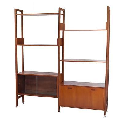Vintage 1960's Modular Bookcase Display Cabinet