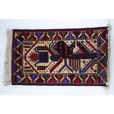 Afghan Hand Knotted Wool Pile Rug