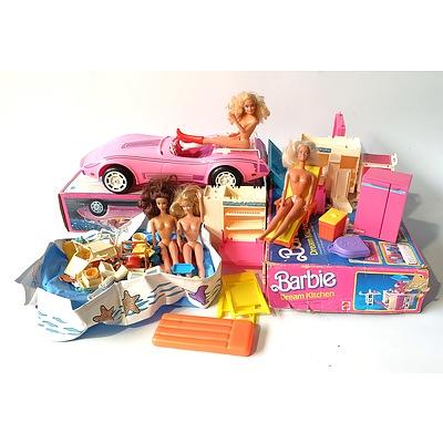 Group of Retro Barbie Toys