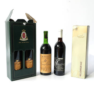 Five Bottles of Alcohol, Including 1981 St. Bede's Sauvignon Cabernet, Hahn Special Vintage Millennium Ale and More