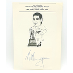 A Signed Mal Meninga Caricature from 1989, the Year the Raiders Won the Grand Final!