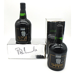 Two Boxed Limited Edition Bottles of Commemorative Bob Hawke Port, One box Signed by Bob Hawke