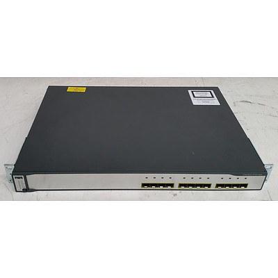 Cisco Catalyst (WS-C3750G-12S-S V14) 3750 Series 12-Port Gigabit SFP Switch