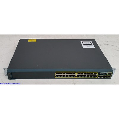 Cisco Catalyst (WS-C2960S-24TS-L V02) 2960-S Series 24-Port Gigabit Managed Switch