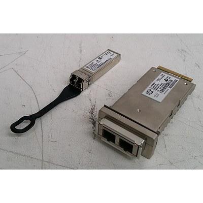 Bulk Lot of Cisco X2-10GB-SR & Brocade 57-0000088-01 Transceiver Modules