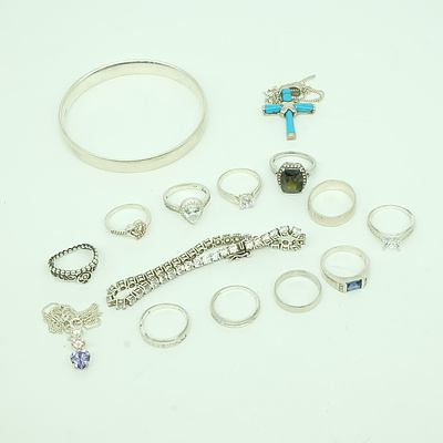 Large Group of Sterling Silver Jewellery
