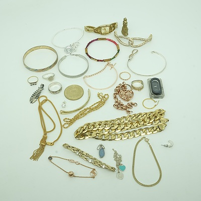 Group of Costume Jewellery Including Pendants and Bracelets