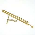 21ct Yellow Gold Necklace with a 9ct Bar Pendant