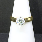 18ct Yellow and White Gold 1.2ct Diamond Solitaire Ring