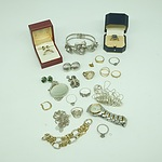 Group of Silver and Gold Costume Jewellery