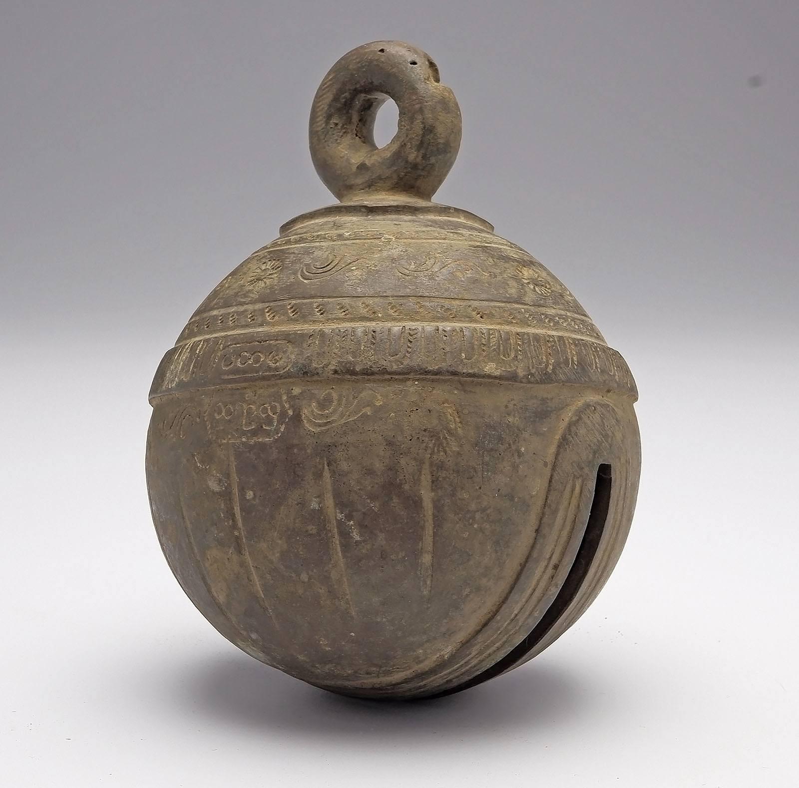 'Burmese Bronze Elephant Bell (Chu) 19th Century'