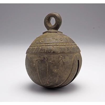 Burmese Bronze Elephant Bell (Chu) 19th Century