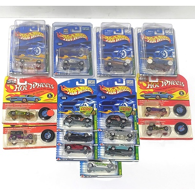 Fifteen Hot Wheels Model Cars from the 25th Anniversary Series and other Series