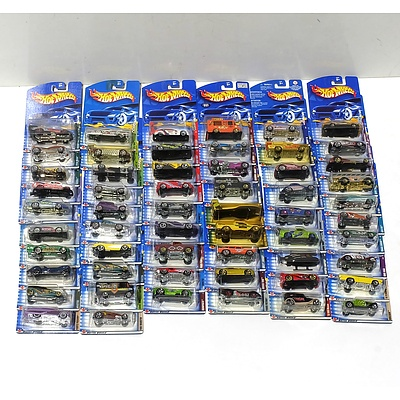Fifty Seven Hot Wheels Model Cars from 2002