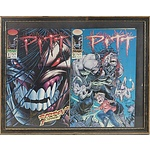 A Framed Presentation of Two 1993 Pitt Comics, No 1 and 2
