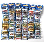 Seventy Three Hot Wheels Model Cars Sealed in Packets from the 2003 Anniversary Series