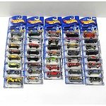 Thirty Nine Hot Wheels Model Cars from the First Edition Series 2002