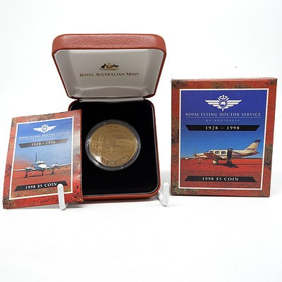 1998 Australia $5 Royal Flying Doctor Service Proof Bronze Coin