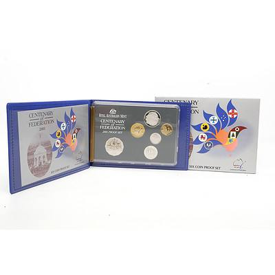 2001 Australian Centenary of Federation Six Coin Proof Set