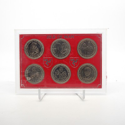 1985 Isle of Man 'Queen Elizabeth' Six Coin Set