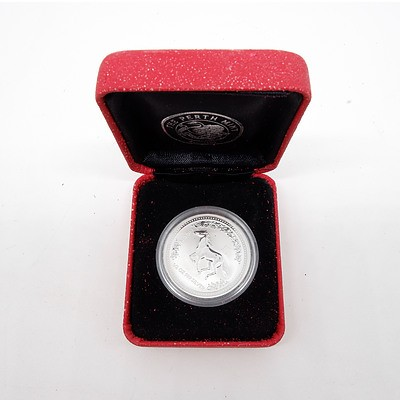 2002 Australia 50 Cent Lunar Series 'Year of the Horse' Fine Silver Proof Coin