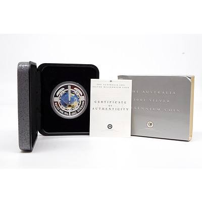 2001 The Australia $1 Silver Proof Millennium Coin