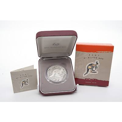 2001 $1 Silver Roo Proof Coin