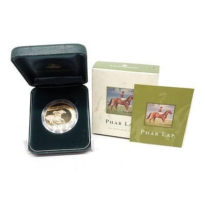 2000 Australia 70th Anniversary Phar Lap $5 Fine Proof Coin