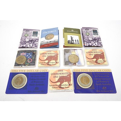 Group of Uncirculated Coins, Including Three 1994 Commemorative $1 Coin, Two 2000 Olympic Coins and More