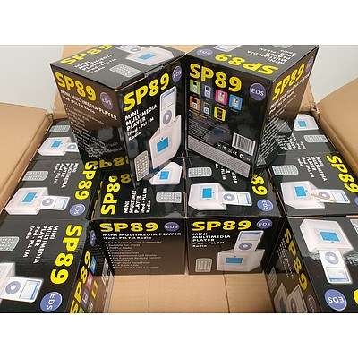 EDS SP89 Mini Multimedia Player With iPod Dock & FM PLL Radio - Lot of 12 - RRP $900+ - Brand New