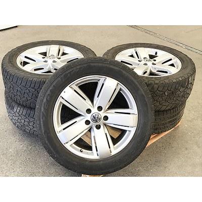 Set of 5 Wheels from a 2014 Volkswagen Amarok Ultimate