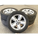 Set of 5 Wheels from a 2014 Volkswagen Amarok Ultimate