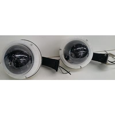 Panasonic 40-BRPOD9A Security Camera 7-Inch Dome Casing - Lot of Two